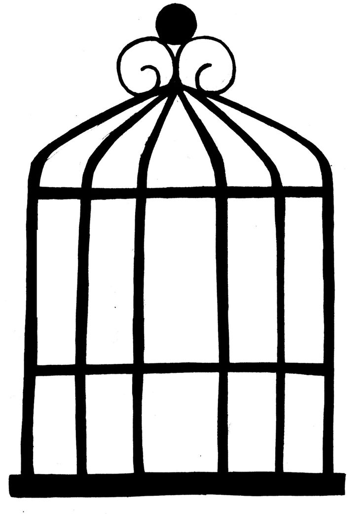 Simple clipart bird cage On ideas Clip Best Drawing