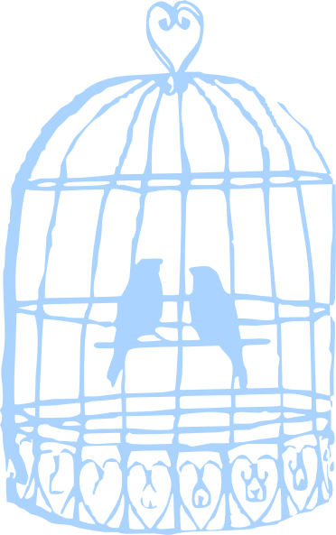 Birdcage clipart blue Download online clip vector com