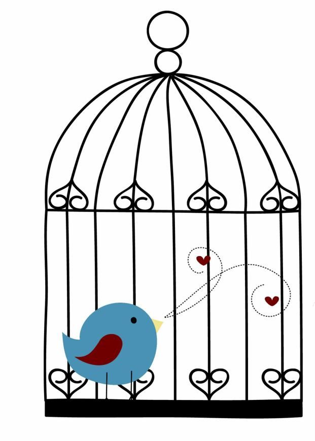 Birdcage clipart blue Find on images Pajaritos Pin