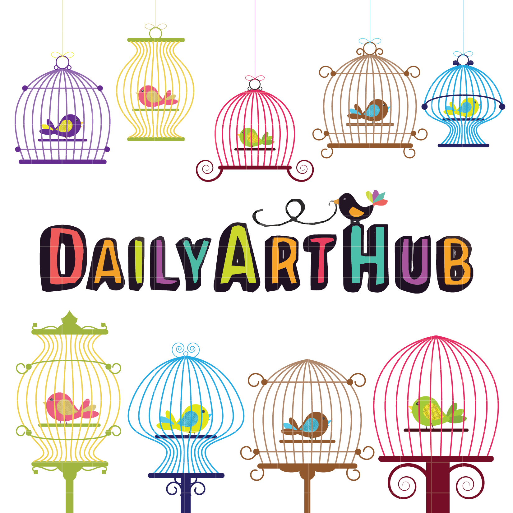 Birdcage clipart cute Cage Art Daily Bird Cage