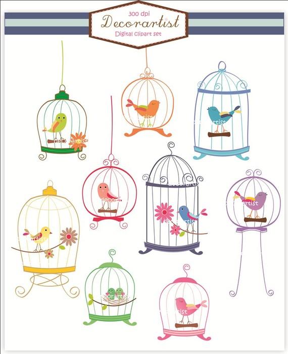 Birdcage clipart cute Download  making birdcage birds