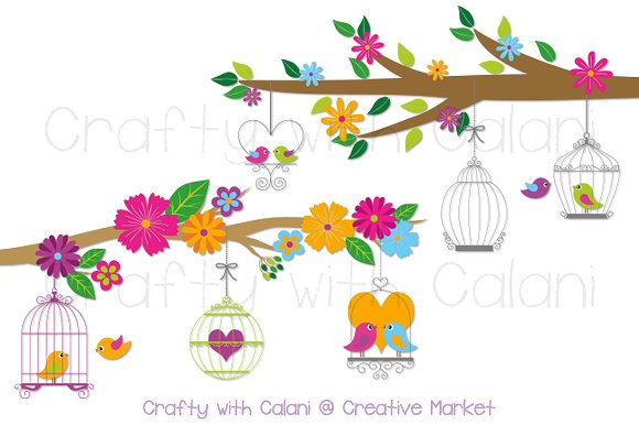 Birdcage clipart love With Clipart Love Bird on