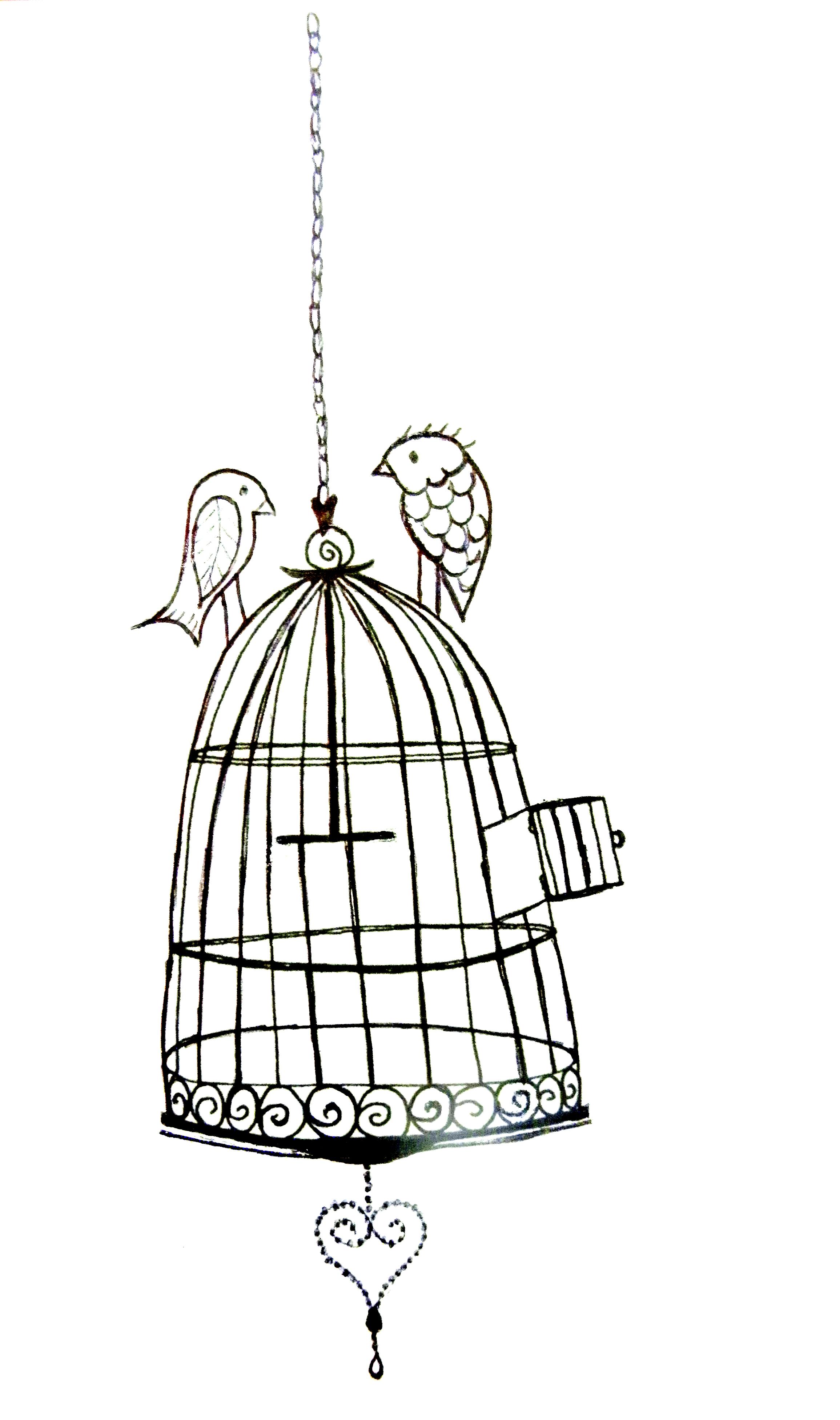 Birdcage clipart open Bird Bird Cage Clip Clipart
