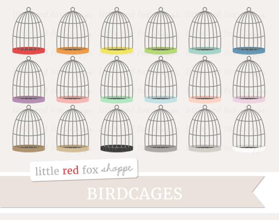 Birdcage clipart red Shoppe Little Birdcage TheHungryJPEG com