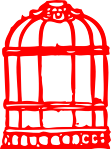 Birdcage clipart red At Cage  Clip Clker