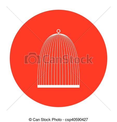 Birdcage clipart red Red csp40590427 on icon sign