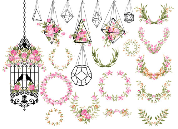 Cage clipart shabby chic Clipart Shabby birdcage clipart date