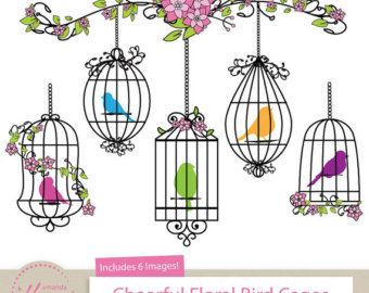 Cage clipart cartoon Bird Art Cages for Crafts