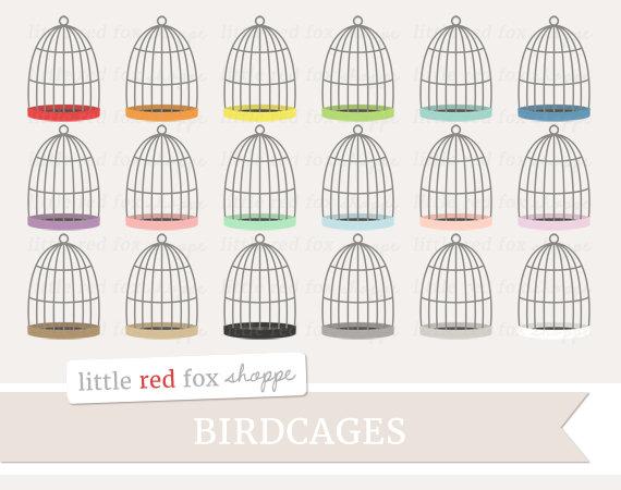 Birdcage clipart shabby chic Shabby Cute Art Clipart Digital