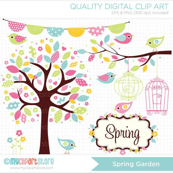 Birdcage clipart shabby chic Instant (Instant Blog Bohemian Download)
