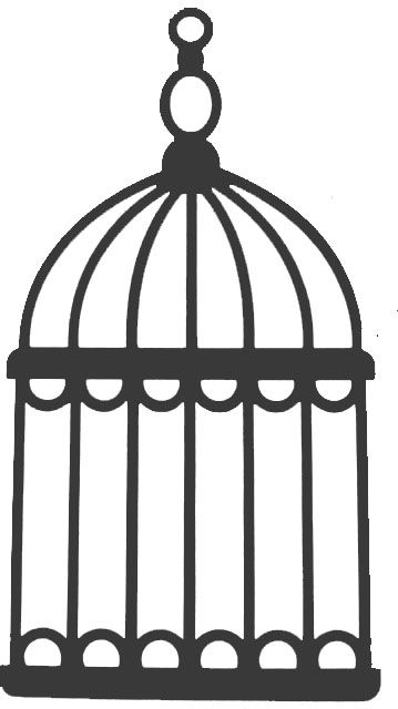 Parrot clipart cage Silhouette cage Crafts on Pinterest