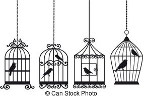 Birdcage clipart vector Search birds with Vintage of