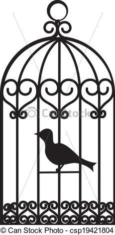 Birdcage clipart vector Cage  cage bird bird