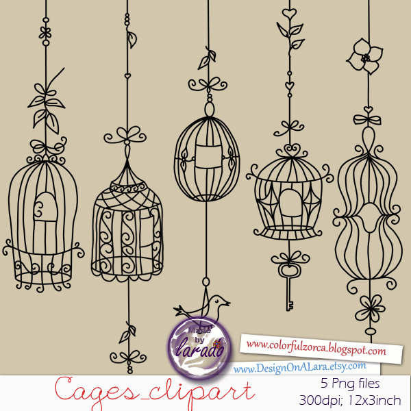 Chandelier clipart ceiling lamp Bird bird cages cages clipart