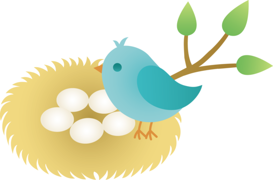 Bluebird clipart early bird Nest collection with clipart Birds