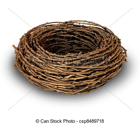Nest clipart cute Nest Empty nest  Stock
