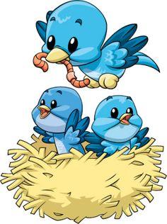 Nest clipart mother bird #5