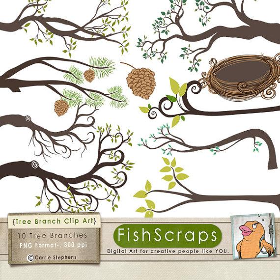 Branch clipart pinecone Nest Art Woodland Bird Bird