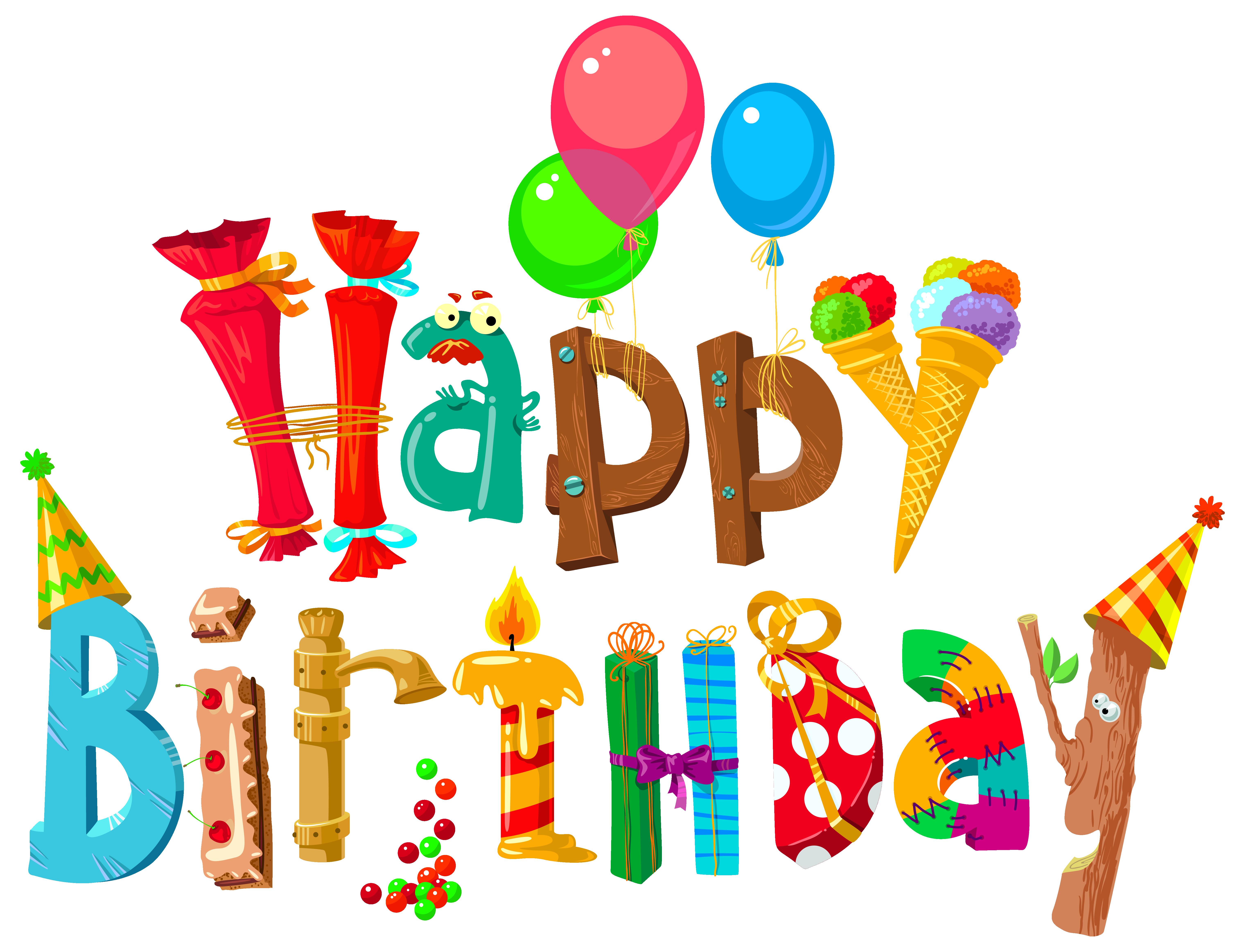 Word clipart birthday party Happy Clipart Birthday Happy Happy