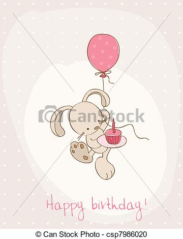Birthday clipart bunny Card Greeting Birthday Greeting csp7986020
