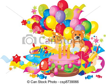 Birthday clipart children's Of Clip cake Children's csp8739066