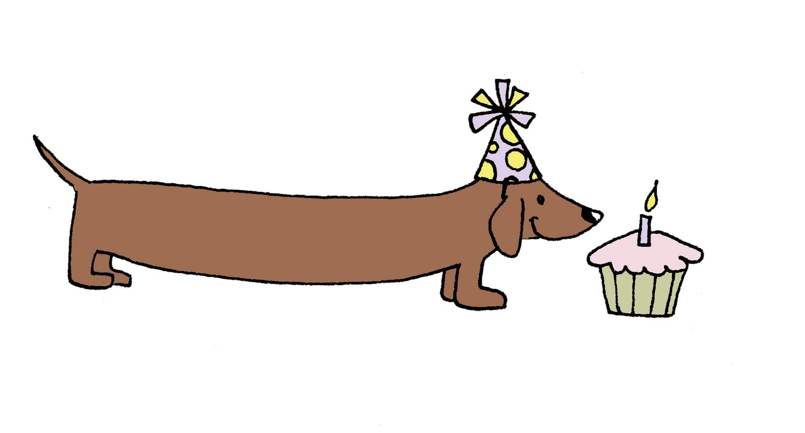 Birthday clipart dachshund  and clipart on inspiration