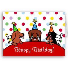 Birthday clipart dachshund Dachshund Birthday Card! Colorful Dachshund
