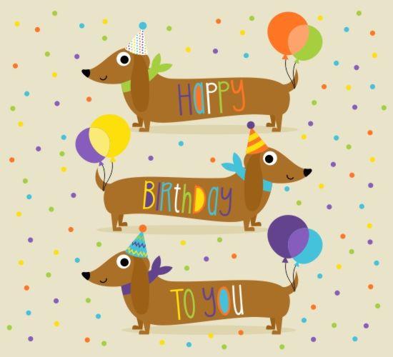 Birthday clipart dachshund Images on Celebrations 135 Pinterest