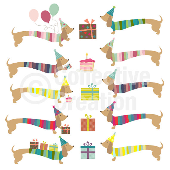 Birthday clipart dachshund Listing at this I http://www