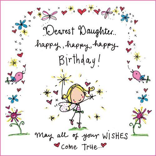 Birthday clipart daughter Happy daughter Dearest Pinterest best