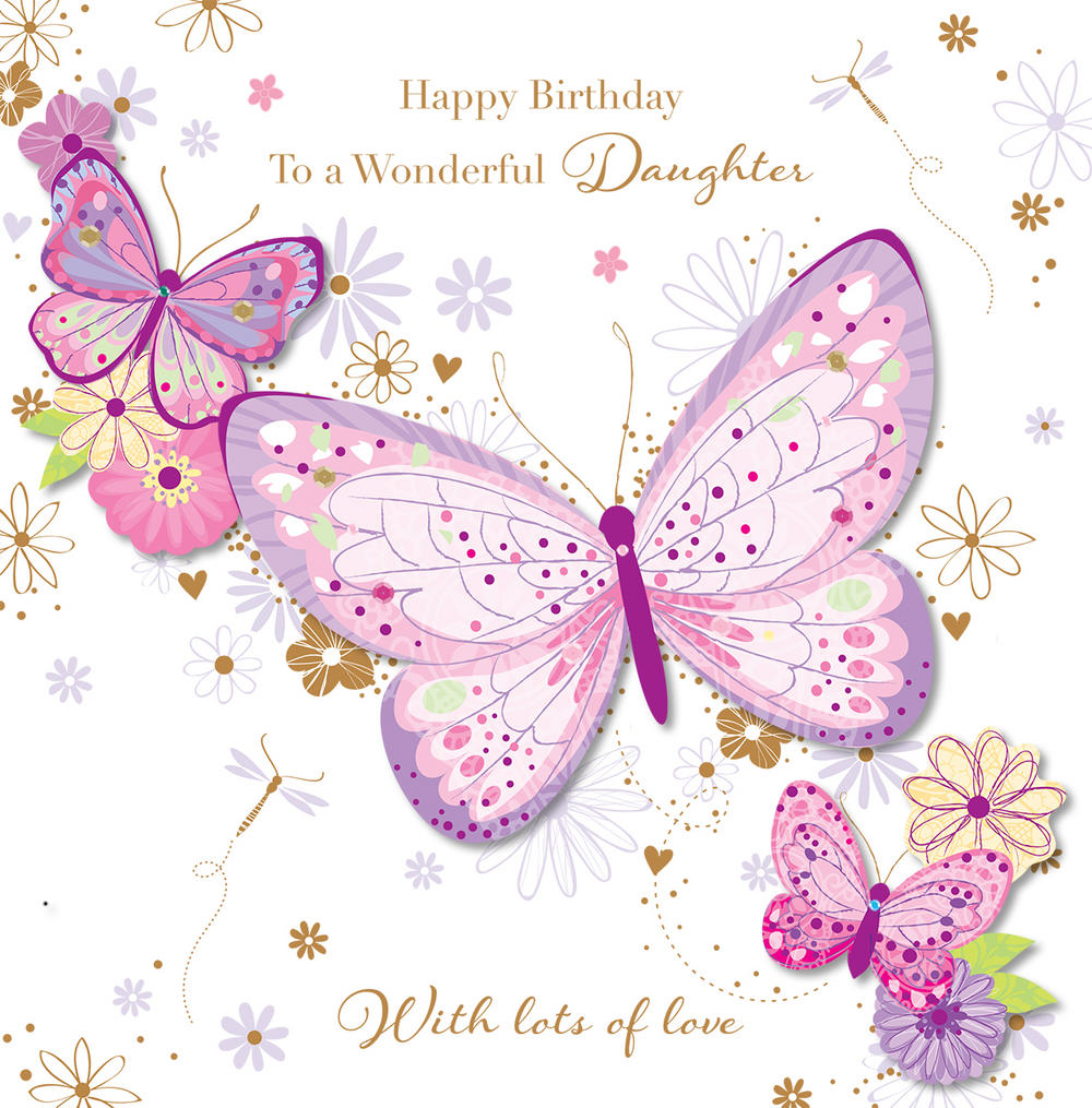 Birthday clipart daughter Wonderful Daughter Wonderful Kates Card
