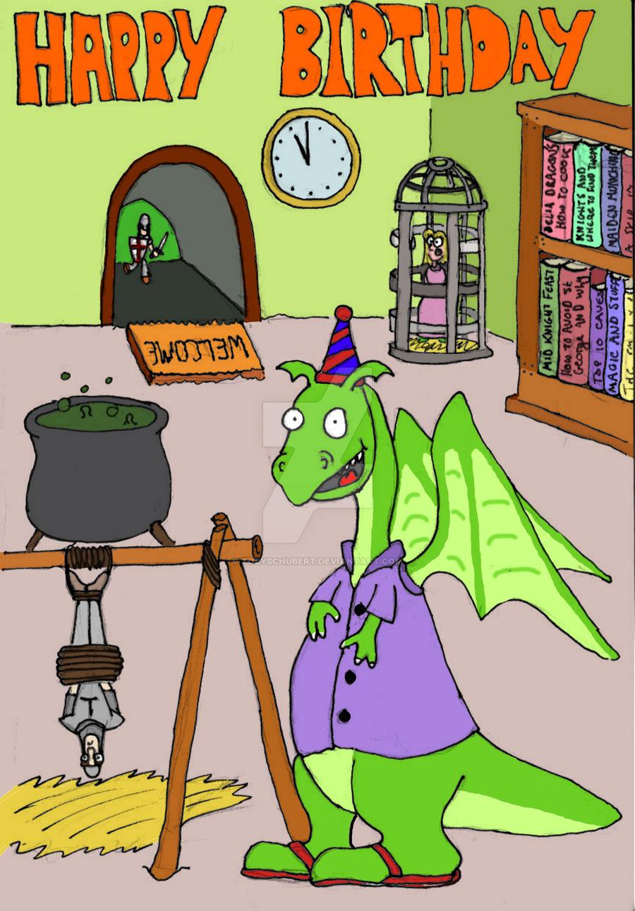 Birthday clipart dragon TobySchubert DeviantArt by card birthday