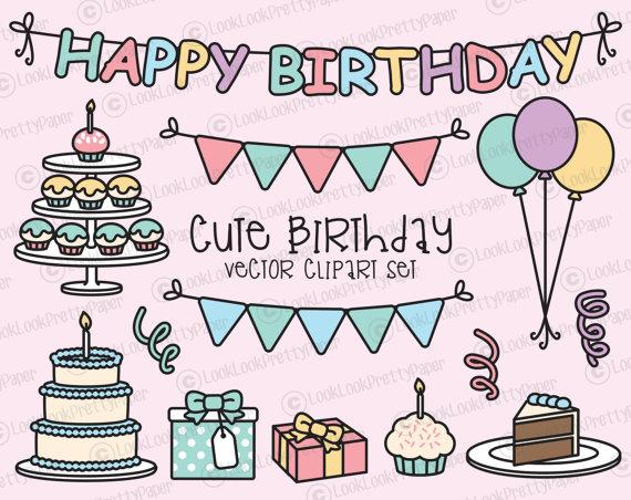 Birthday clipart kawaii Party Kawaii Birthday High Clipart