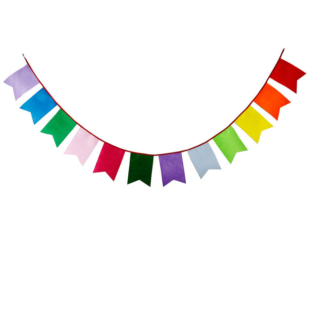 Birthday clipart pennant Colored flag Flag 5m Rainbow