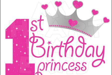Birthday clipart princess Birthday happy Princess  1st