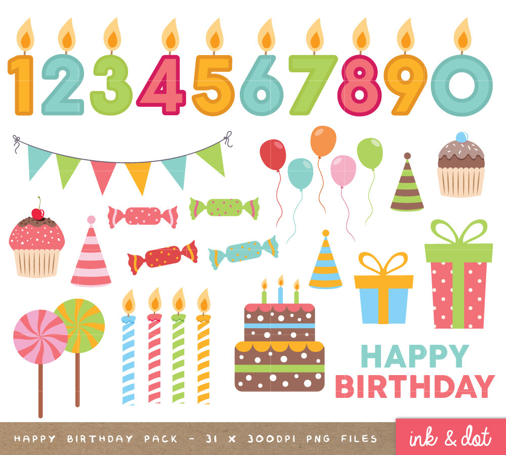 Birthday clipart scrapbook  Birthday is file clipart