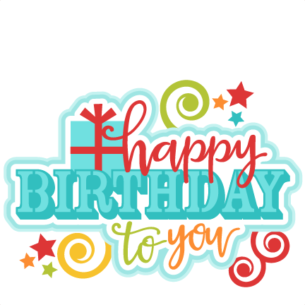 Birthday clipart scrapbook Silhouette pazzles file cute Title