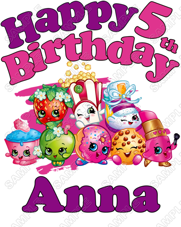 Birthday clipart shopkins Collections on Transfer Iron Personalized
