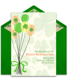 Birthday clipart st patrick's day Invitations Punchbowl Day Party Online