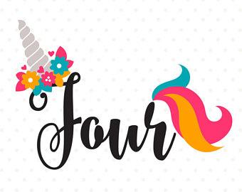 Birthday clipart unicorn Birthday SVG Girl Birthday DXF