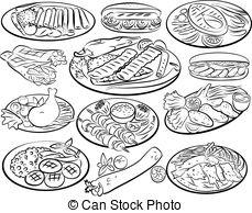 Biryani clipart black and white ArtistSee Vector of of from