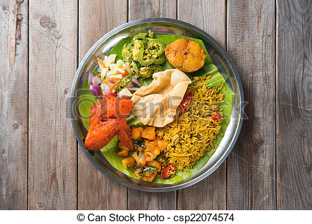 Biryani clipart curry Of table csp22074574 of rice