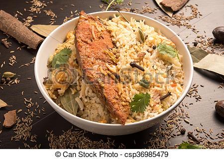 Biryani clipart dhum Search csp36985479 Picture Fish Biryani