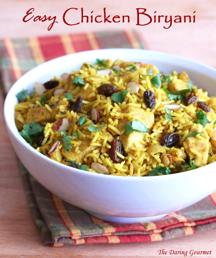 Biryani clipart plain Recipe chicken raisins Indian fast