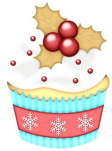 Muffin clipart christmas — Cupca…» на Яндекс Holly