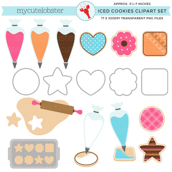 Icing clipart pastry bag Of clip Cookies Iced art