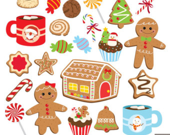 Biscuit clipart christmas cookie Etsy Digital Cookies Sugar Christmas