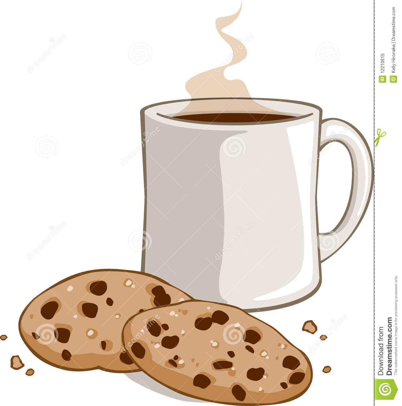Hot Chocolate clipart cookie #10