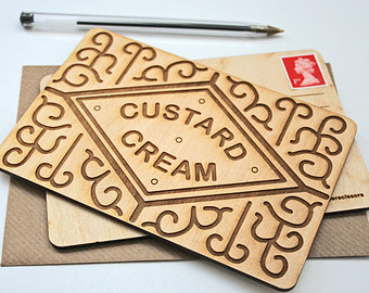 Biscuit clipart custard cream Postcard Biscuit Day Fathers cream