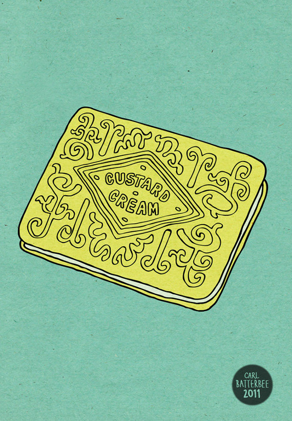 Biscuit clipart custard cream Cream Illustration Cream Custard